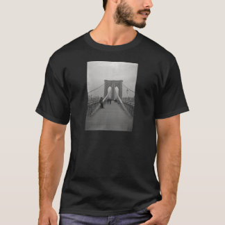 Vintage Victorian Black and White Brooklyn Bridge T-Shirt