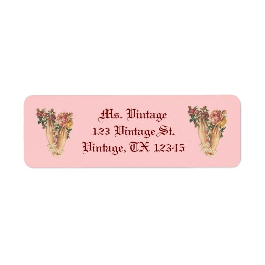 Vintage Victorian Bouquet Return Address Labels