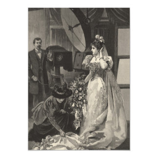 Vintage Victorian Bridal Portrait Invitation