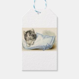 Vintage Victorian Cat Kitten Gift Tags