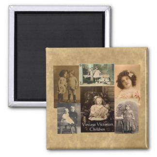 Vintage Victorian Children Collage Fridge Magnet