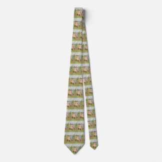 Vintage Victorian Children Playing Blindfold Games Tie