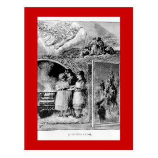 Vintage Victorian Christmas Biblical Scene Postcard
