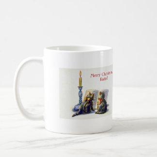 Vintage Victorian Christmas Cats Coffee Mug