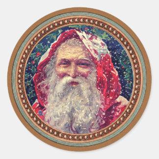 Vintage Victorian Christmas Santa Claus Sticker