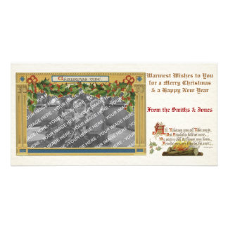 Vintage Victorian Christmas-tide Photoframe PhotoC Picture Card