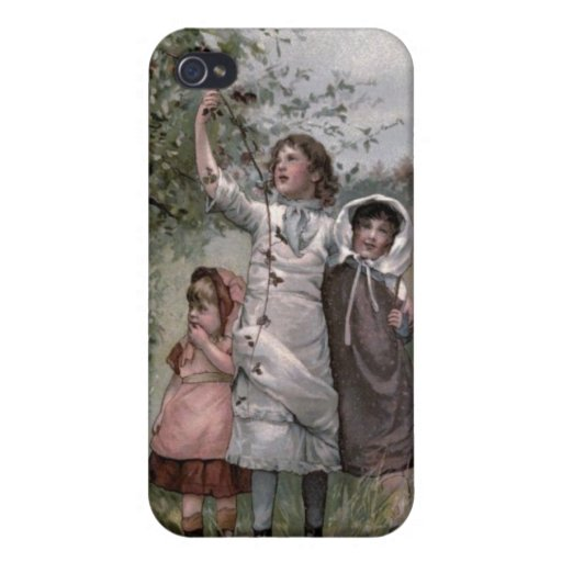 Vintage Victorian & Cute: Blackberry Picking iPhone 4 Cases