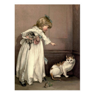 Vintage Victorian & Cute: Here Kitty, Kitty Postcard