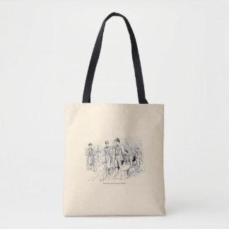 Vintage/Victorian Cyclists Tote Bag