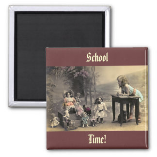 Vintage Victorian Dolls School Time Fridge Magnet