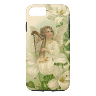 Vintage Victorian Easter, Angel Harp Lily Flowers iPhone 7 Case