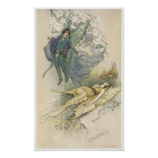 Vintage Victorian Fairy Painting, Warwick Gogle Poster