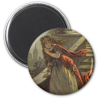 Vintage Victorian Fairy Tale, Cinderella 2 Inch Round Magnet