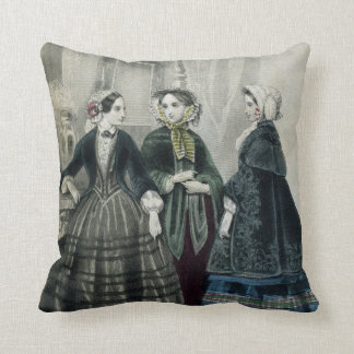 Vintage Victorian Fashionable Woman Throw Pillow