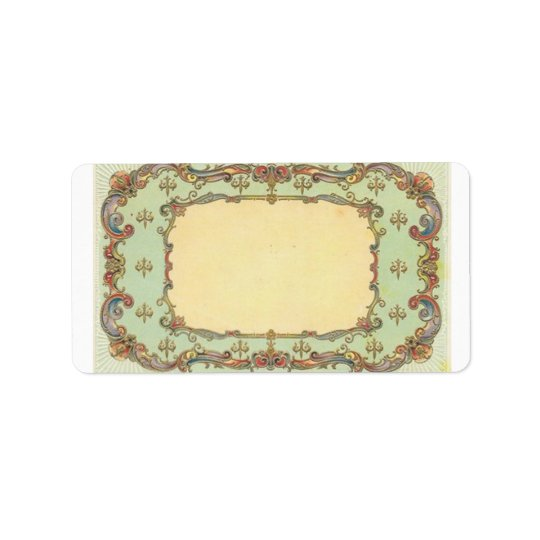Vintage Victorian Filigree Address Label
