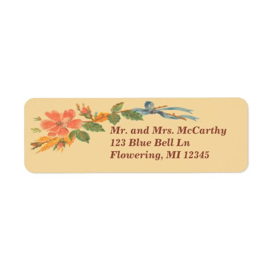 Vintage Victorian Floral Avery Return Address Label