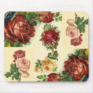 Vintage Victorian Floral Collage Mousepad