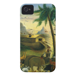 Vintage Victorian Folk Art, Noah's Ark by Hidley iPhone 4 Cover
