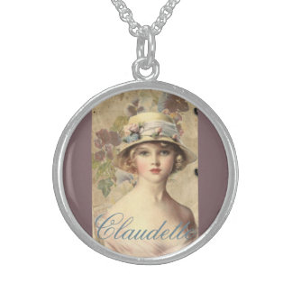 Vintage Victorian French Woman Cameo Necklace