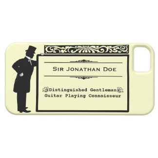 Vintage Victorian Gentleman Personalizable Name iPhone 5 Cover