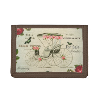 Vintage victorian girly wallet w/ flowers