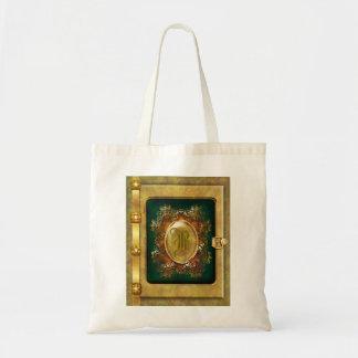 Vintage victorian gold tote bag