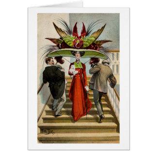 Vintage Victorian Hat Lady, Card