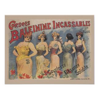 Vintage Victorian Lingerie Wedding Shower Card