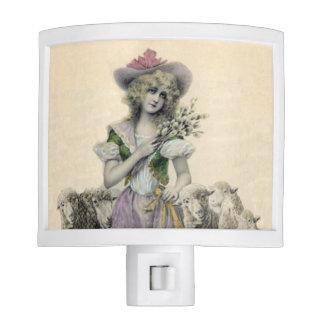Vintage Victorian Little Bo Peep Sheep Fairy Tale Night Light