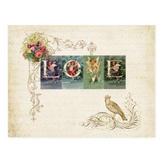 Vintage Victorian Love Postcard