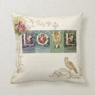 Vintage Victorian Love Throw Pillow