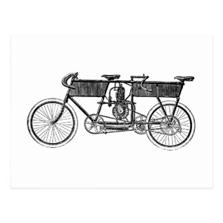 Vintage Victorian Motorcycle Postcard