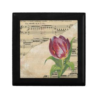 Vintage Victorian Music Romance Tulips Gift Box