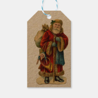 Vintage Victorian Old Word Santa Claus - Gift tags