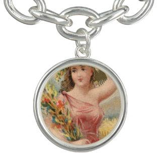 Vintage Victorian painting Charm bracelet