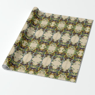 Vintage Victorian Pansies Wrapping Paper