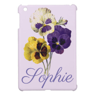 Vintage/Victorian Pansy Flowers Personnalised Case For The iPad Mini