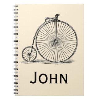Vintage/Victorian Pennyfarthing Personnalised Notebook