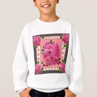 vintage victorian pink rose pattern art sweatshirt