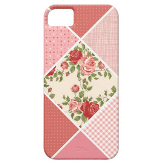 Vintage, Victorian Quilt, Pink, Rose, White iPhone 5 Cover