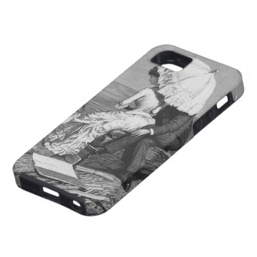 Vintage Victorian Romantic Couple by Beach iPhone 5 Cover