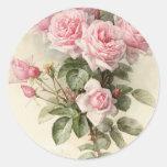 Vintage Victorian Romantic Roses Sticker