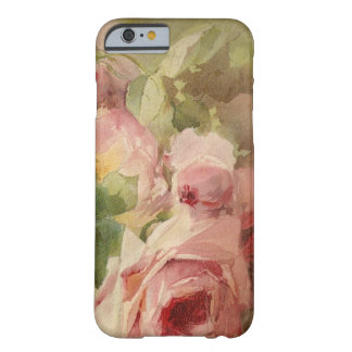Vintage Victorian Rose Watercolor Barely There iPhone 6 Case
