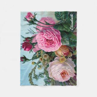 Vintage Victorian Roses Custom Blanket