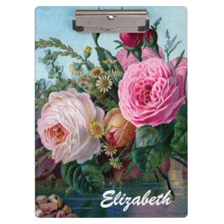 Vintage Victorian Roses Custom Clipboard