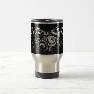 Vintage Victorian Roses Wedding Travel Mug