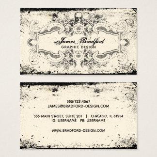 Vintage Victorian Skull Business Card
