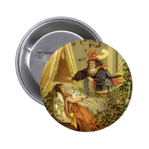 Vintage Victorian Sleeping Beauty Fairy Tale Pins
