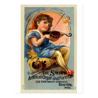 Vintage Victorian Smith Piano Violoin Trade Card