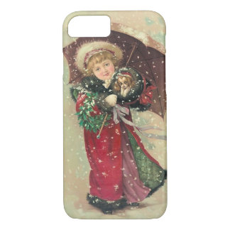 Vintage Victorian Snowy Christmas iPhone 7 Case